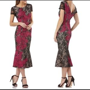 NWT JS Collections Soutache Embroidered Lace Dress